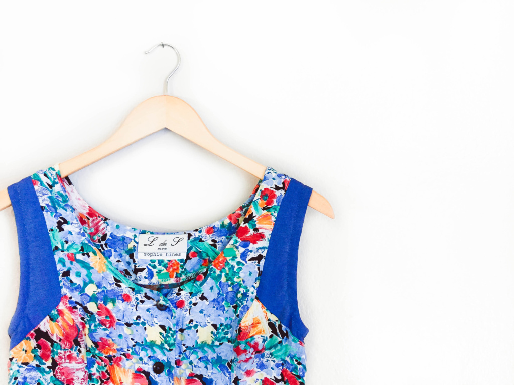 Vintage Floral and Chambray Sundress Restyling Project
