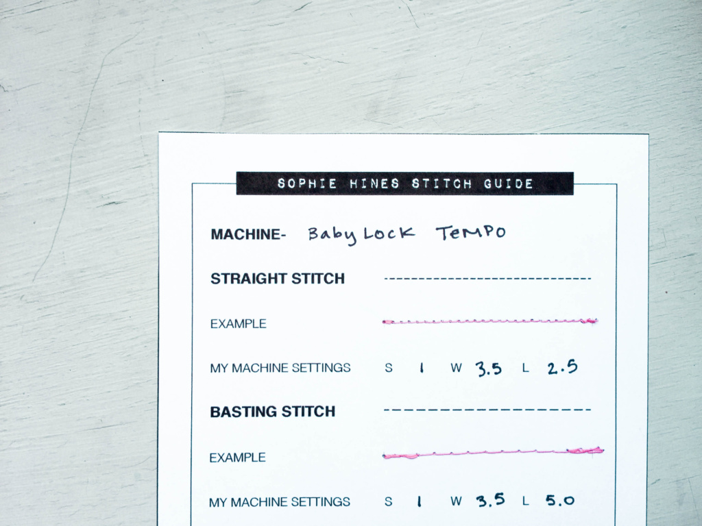 Sophie Hines Lingerie Sewing Stitch Guide