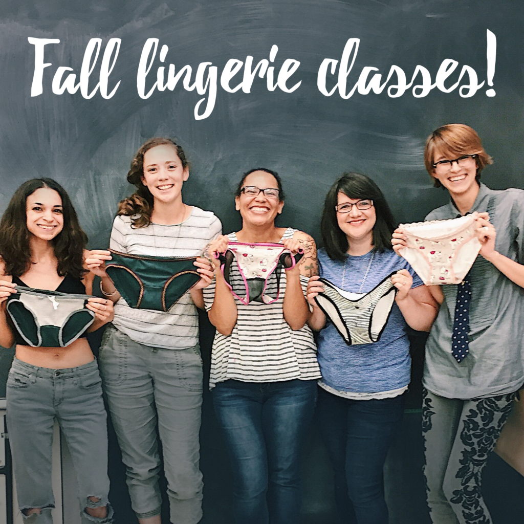 Sophie Hines Handmade Lingerie Classes Denver brooklyn Sewing
